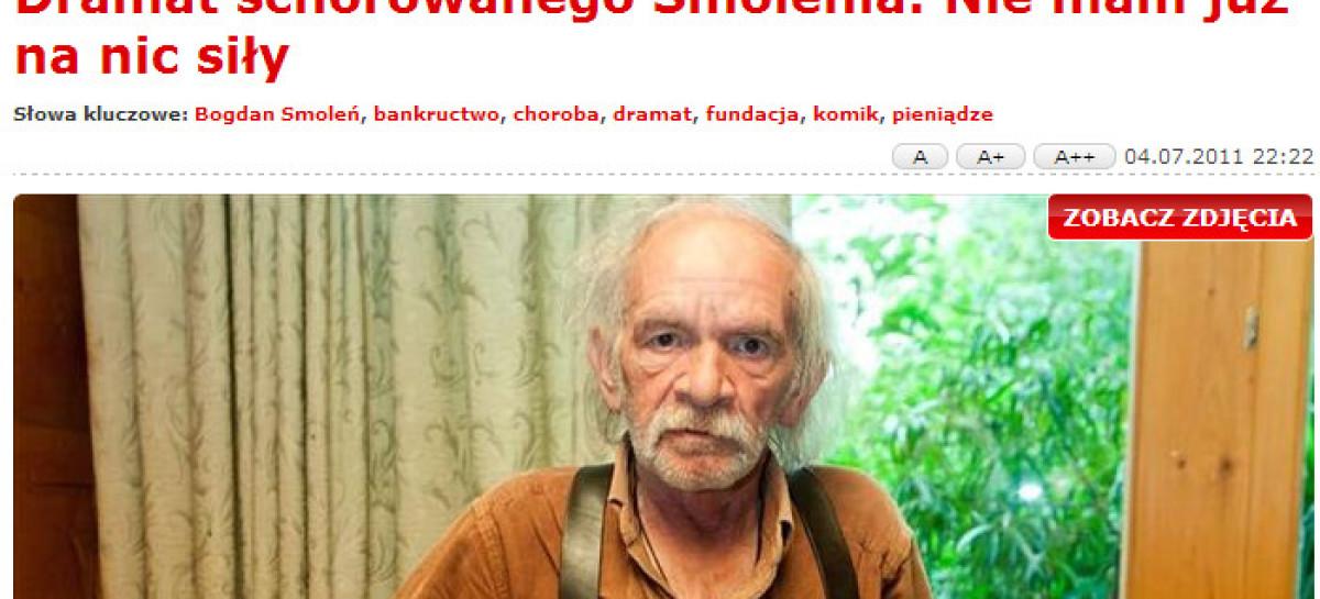 Dramat schorowanego Smolenia: Nie mam już na nic siły