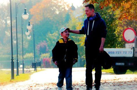 Jesienny spacer nad Wisłą.