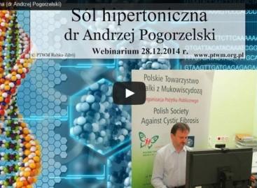 Wideokonferencja dr med Andrzeja Pogorzelskiego na temat soli hipertonicznej