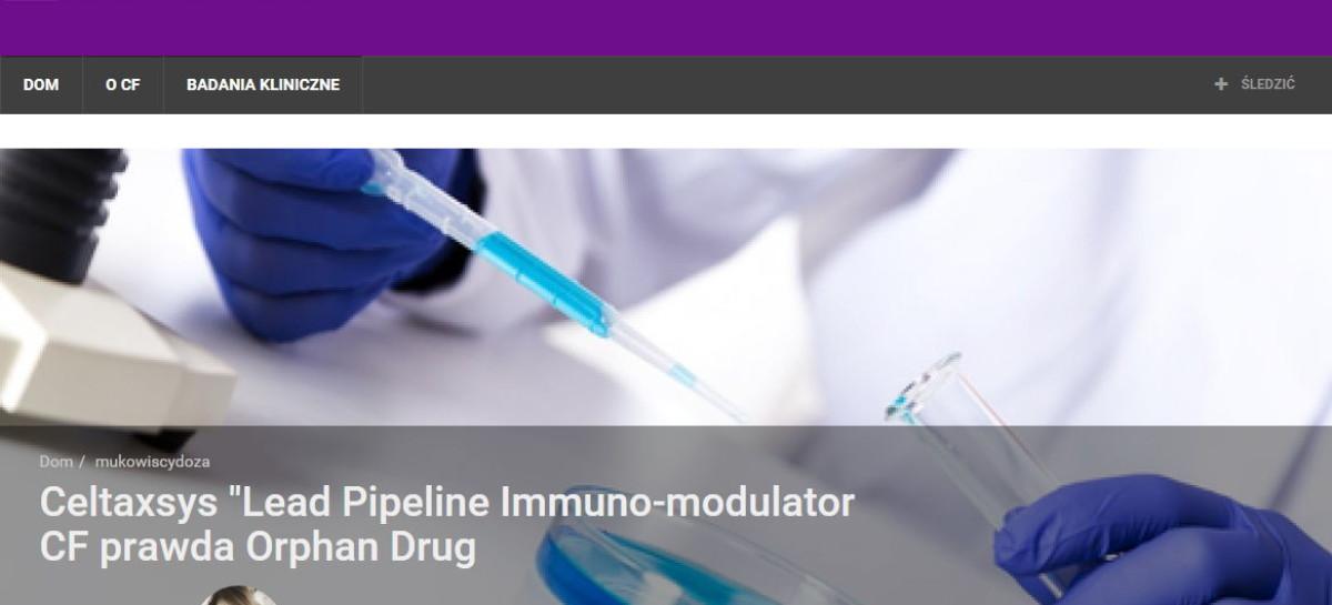Celtaxsys' –  Lead Pipeline Immuno-Modulator for CF Granted Orphan Drug Designation