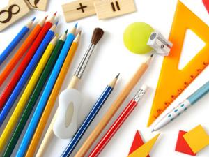 educational tools set on white