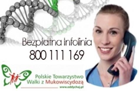 Mukowiscydoza – Bezpłatna infolinia PTWM 800 111 169