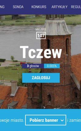Mieszkam w Tczewie – głosuję na moje miasto.